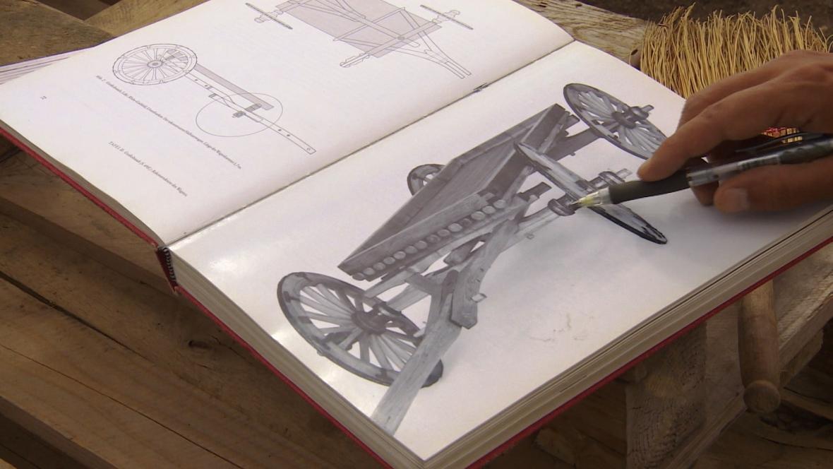 Rekonstrukce vozu nalezeného uu Lovosic