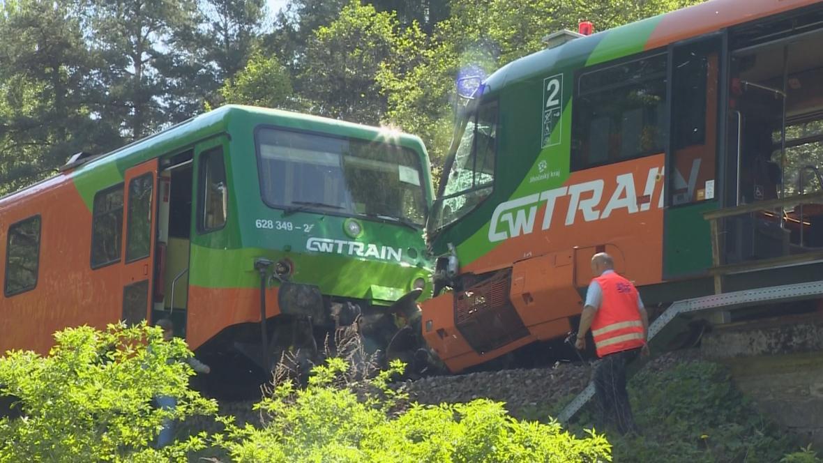 Srážka vlaků u nádraží Křemže