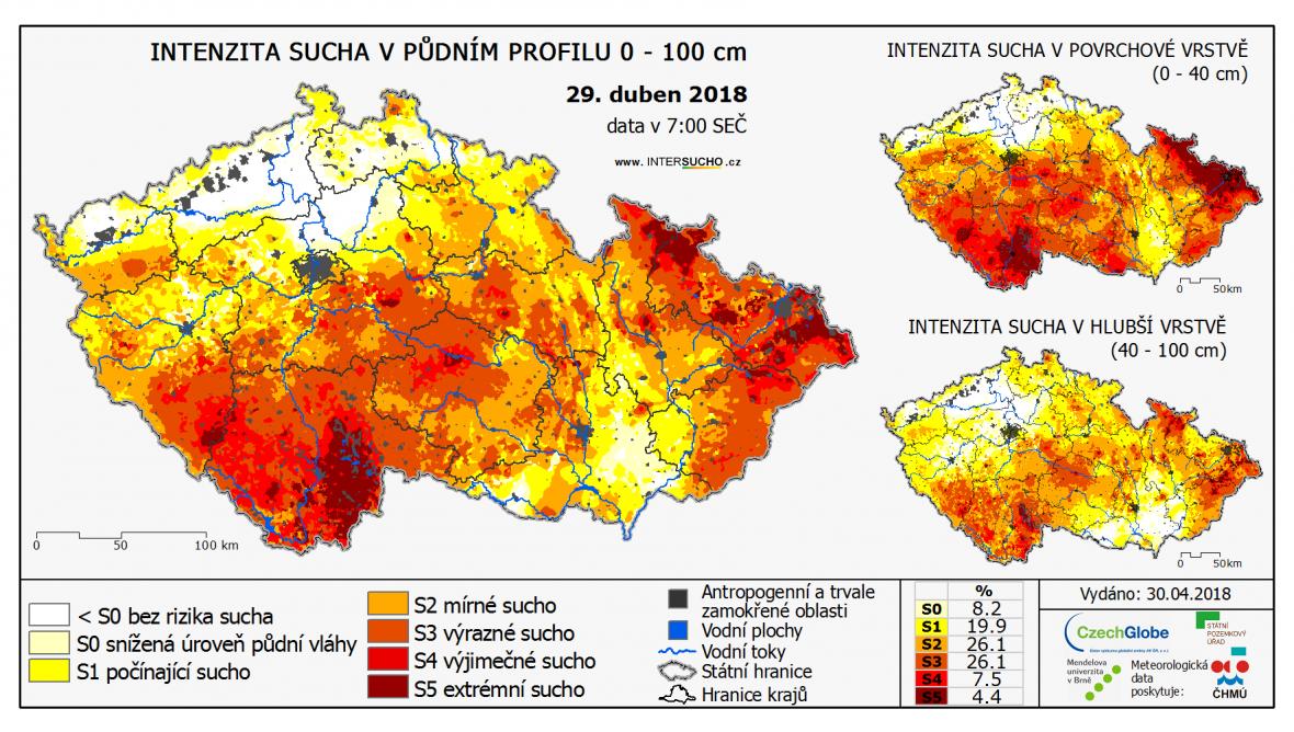 Část ČR postihlo sucho