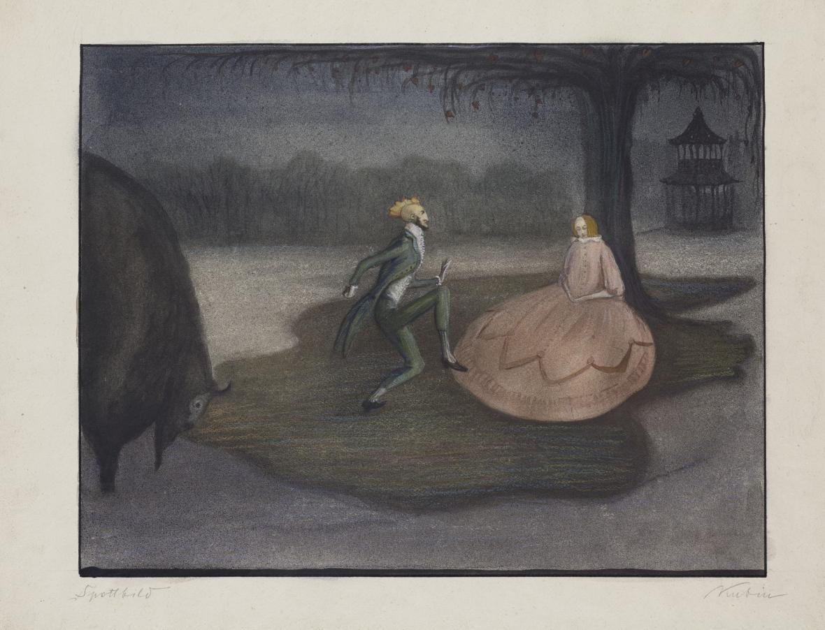 Alfred Kubin / Zesměšňující výjev, 1903