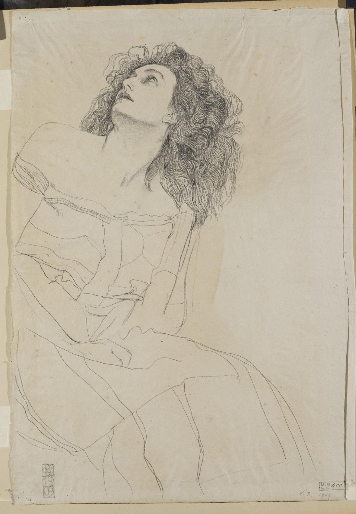 Carl Otto Czeschka / Studie ženské postavy, 1909