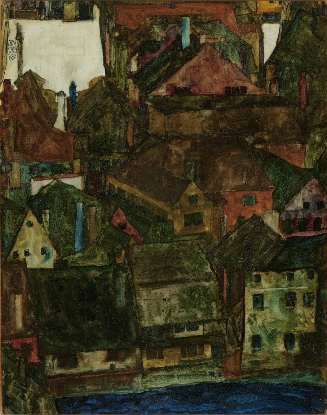 Egon Schiele / Mrtvé město (Český Krumlov), 1911