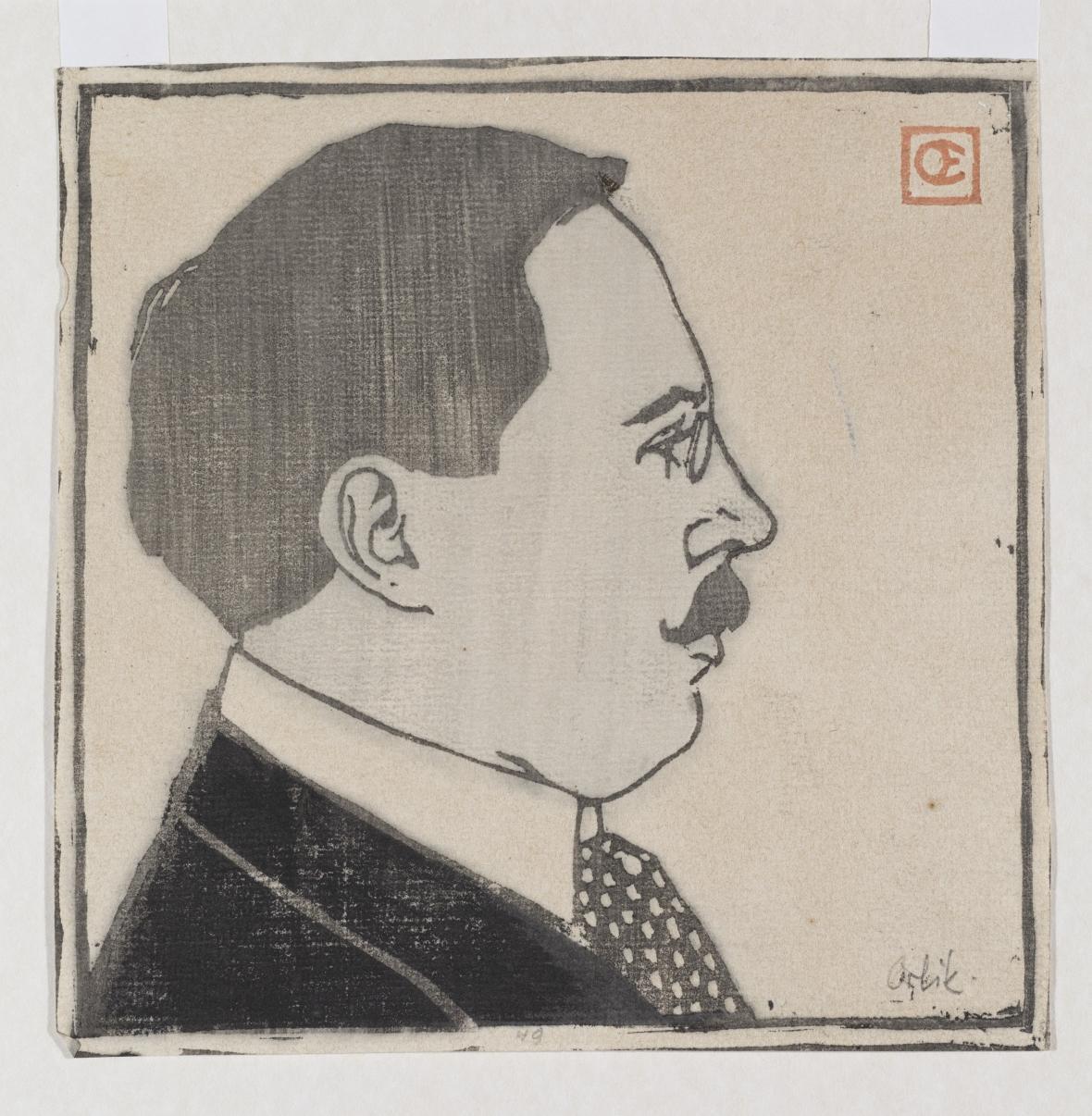 Emil Orlik / Architekt Josef Hoffmann, 1903