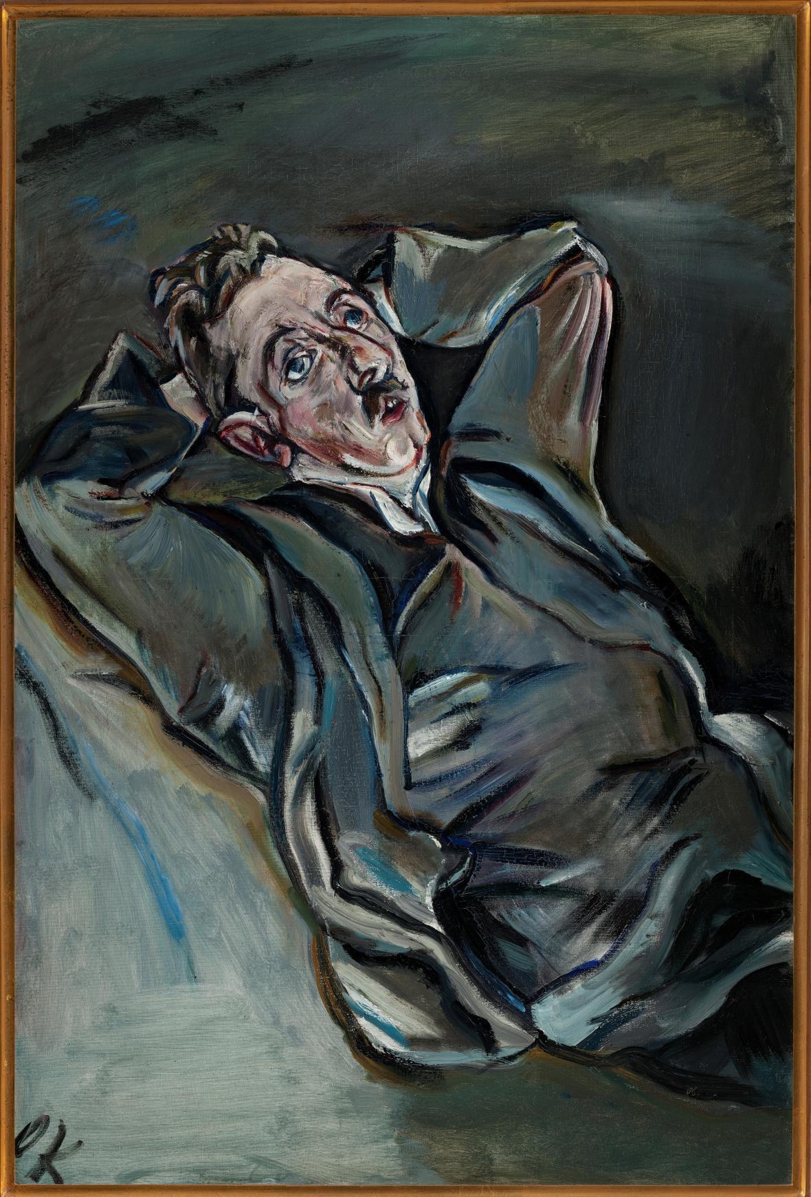 Oskar Kokoschka / Básník Albert Ehrenstein, 1914