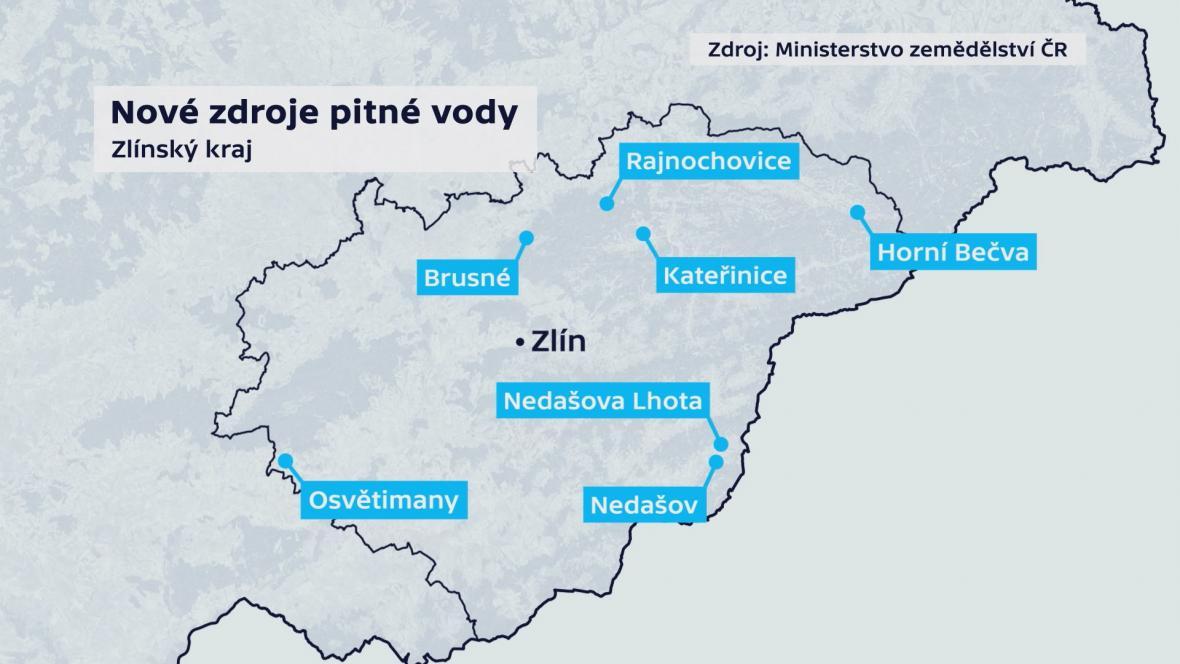 Nové zdroje pitné vody ve Zlínském kraji