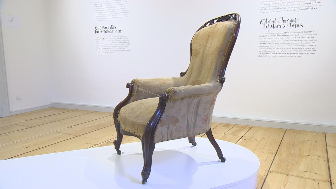 Židle, na které zemřel Karl Marx