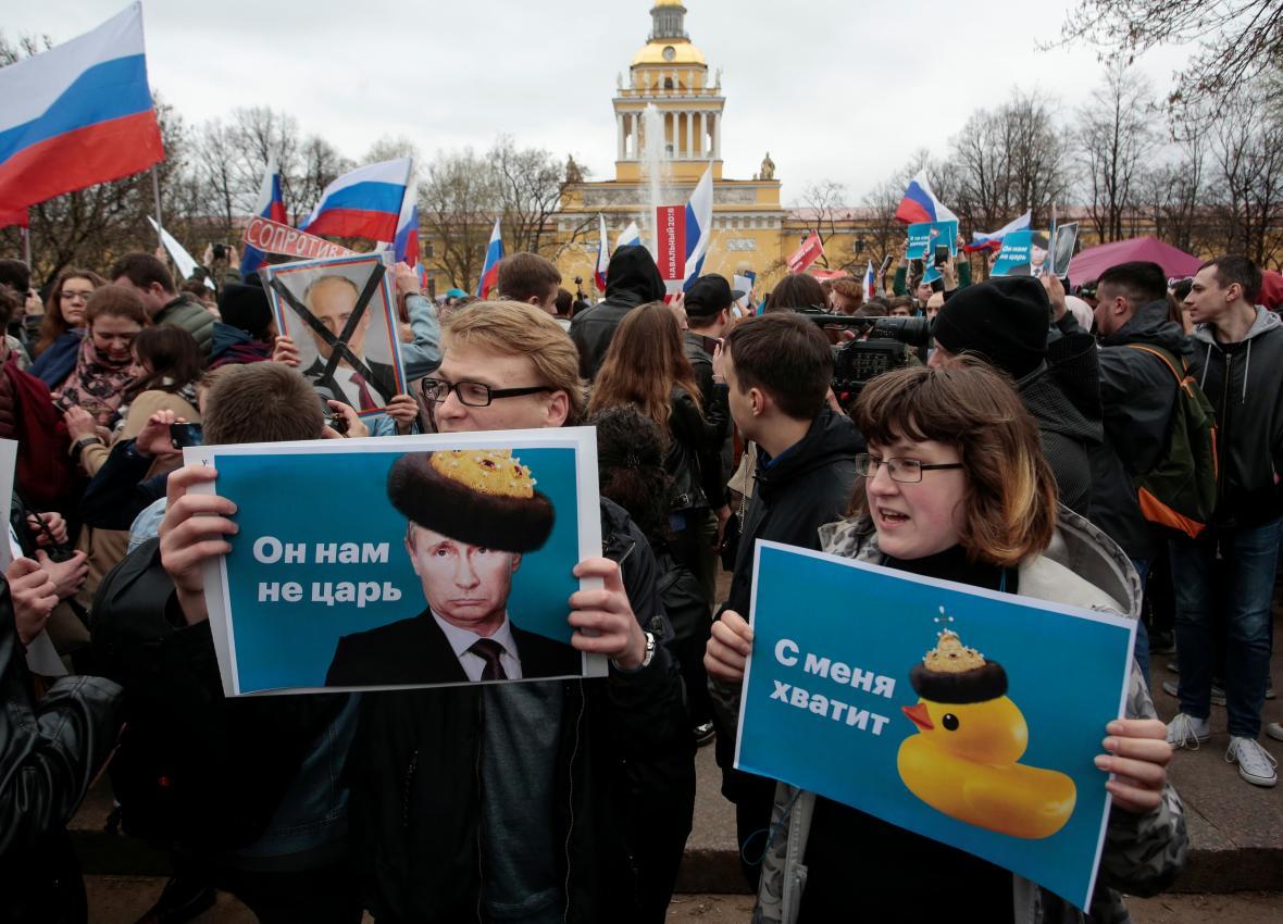 Protest v Petrohradě