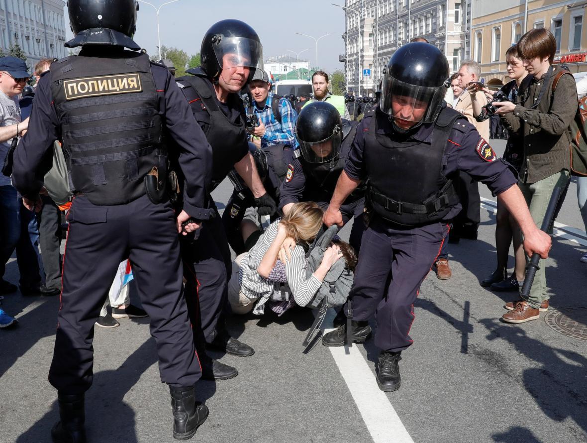 Zásah policie v Moskvě