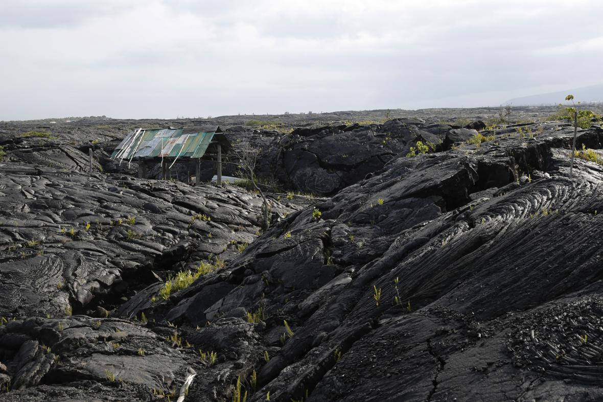 Lávové pole na Havaji