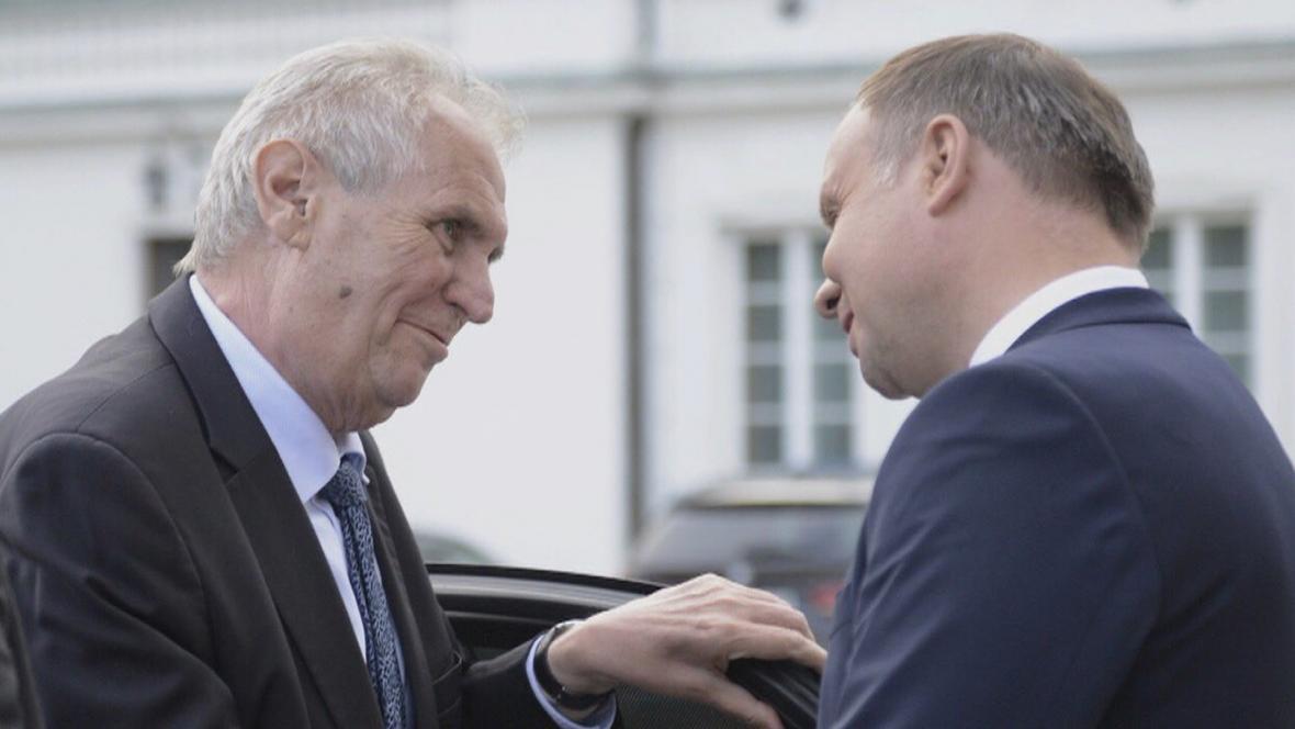 Prezidenti Miloš Zeman a Andrzej Duda