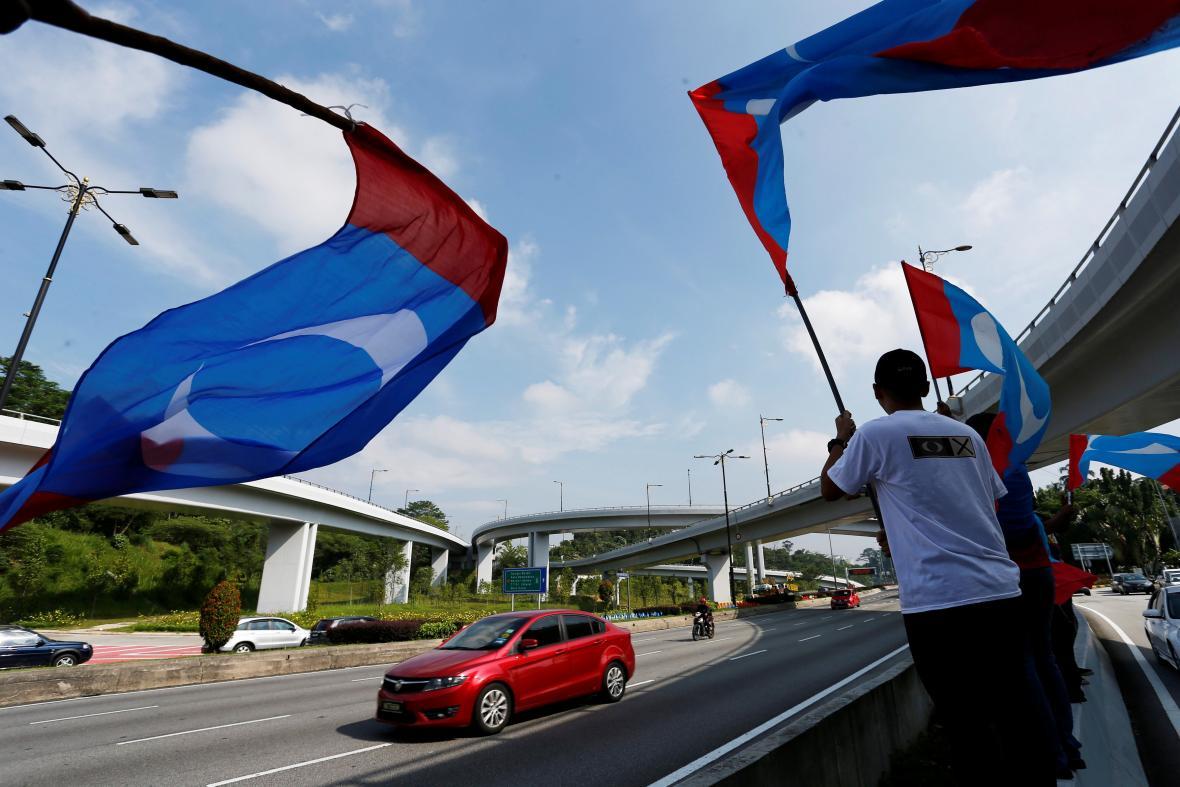 Příznivci opozice v Malajsii