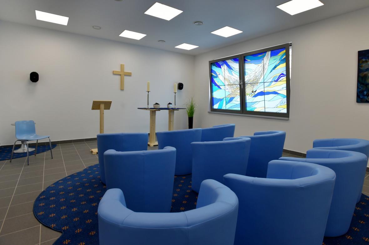 Součástí hospicu je i kaple