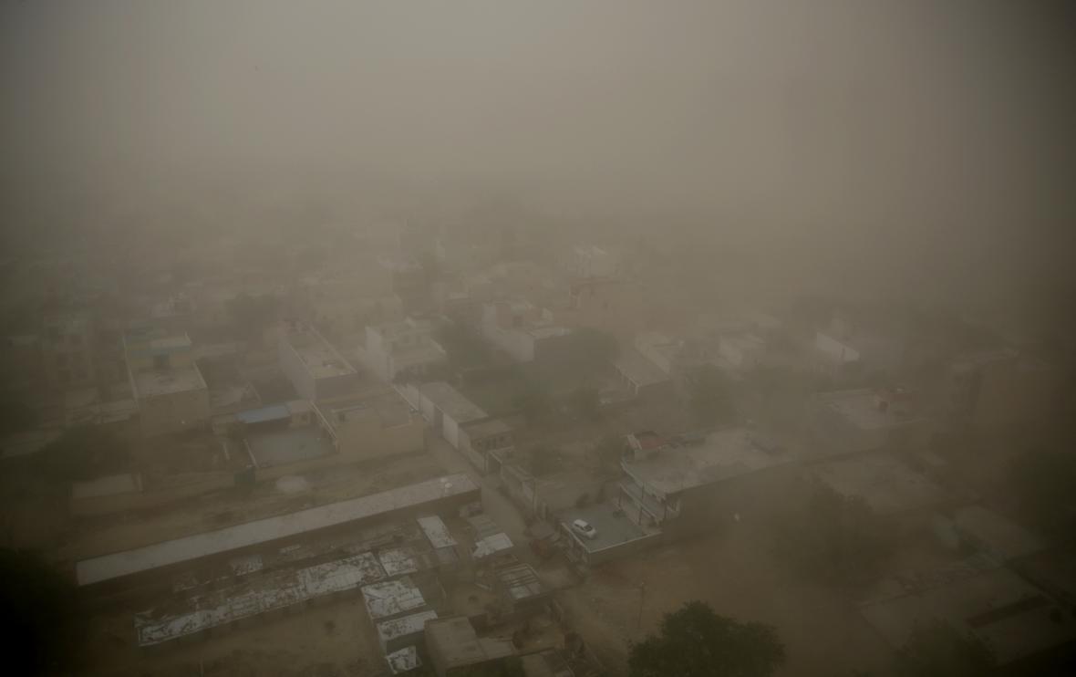 Písečná bouře v Indii