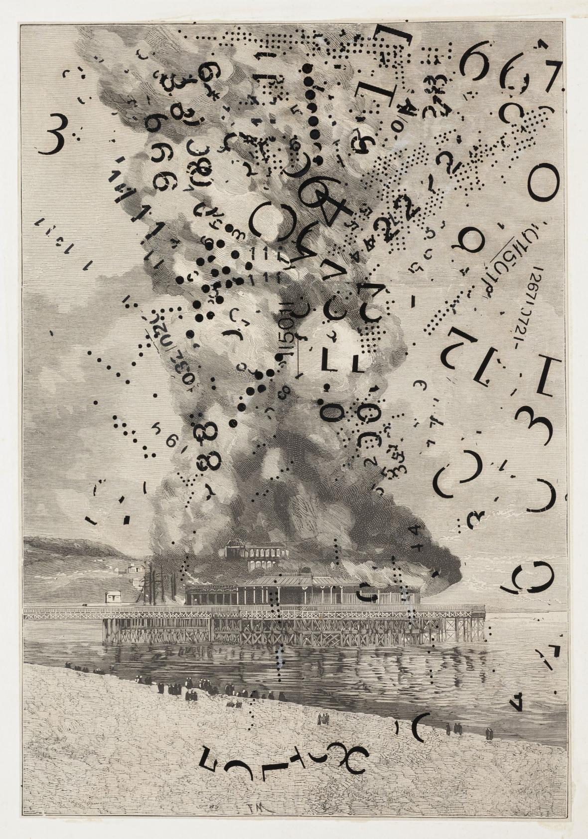 Jiří Kolář / Exploze (z cyklu Historie ničeho, XVI), nedat. (1. polovina 60. let)