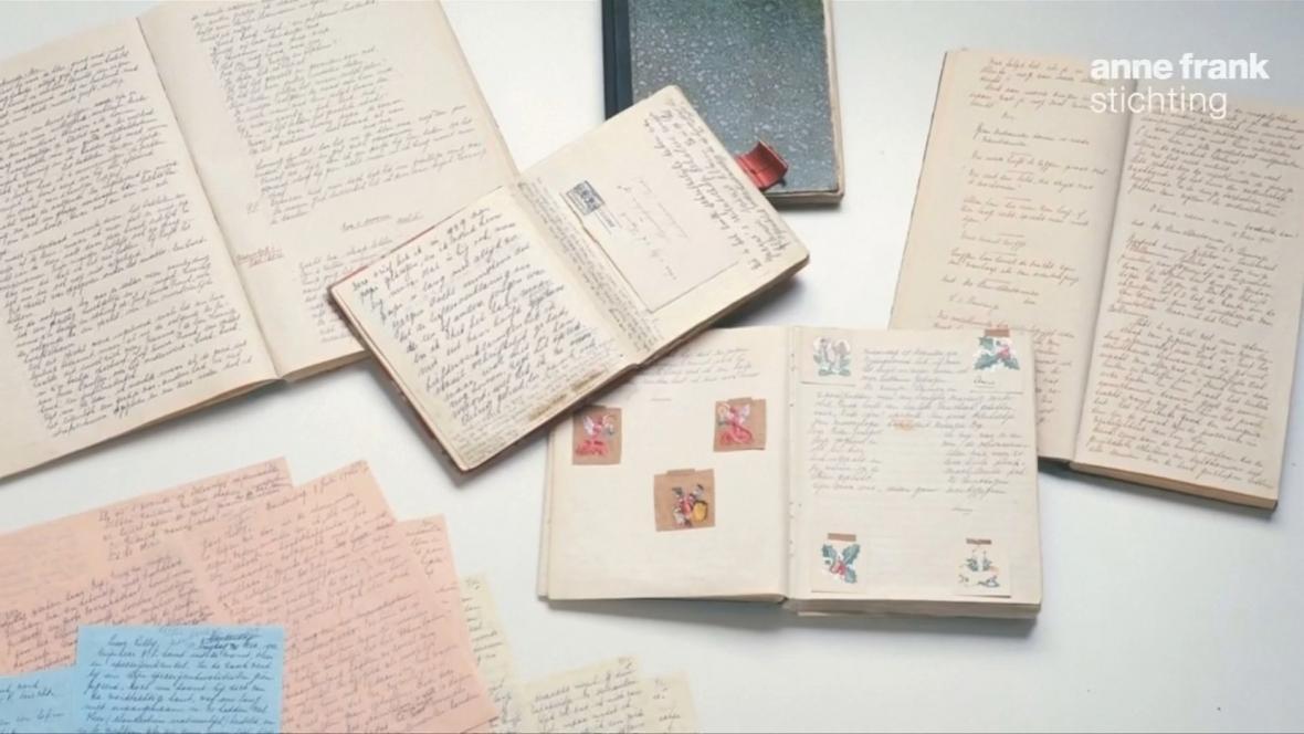Exempláře vystavené v Domě Anny Frankové