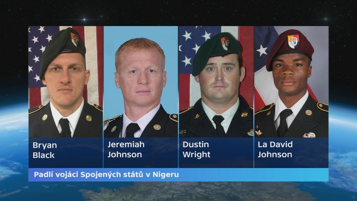Američtí vojáci, kteří padli při operaci v Nigeru