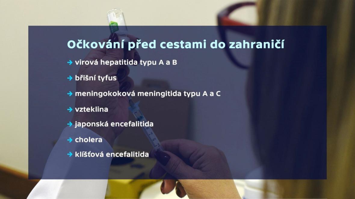 Doporučená očkování před dovolenou v zahraničí