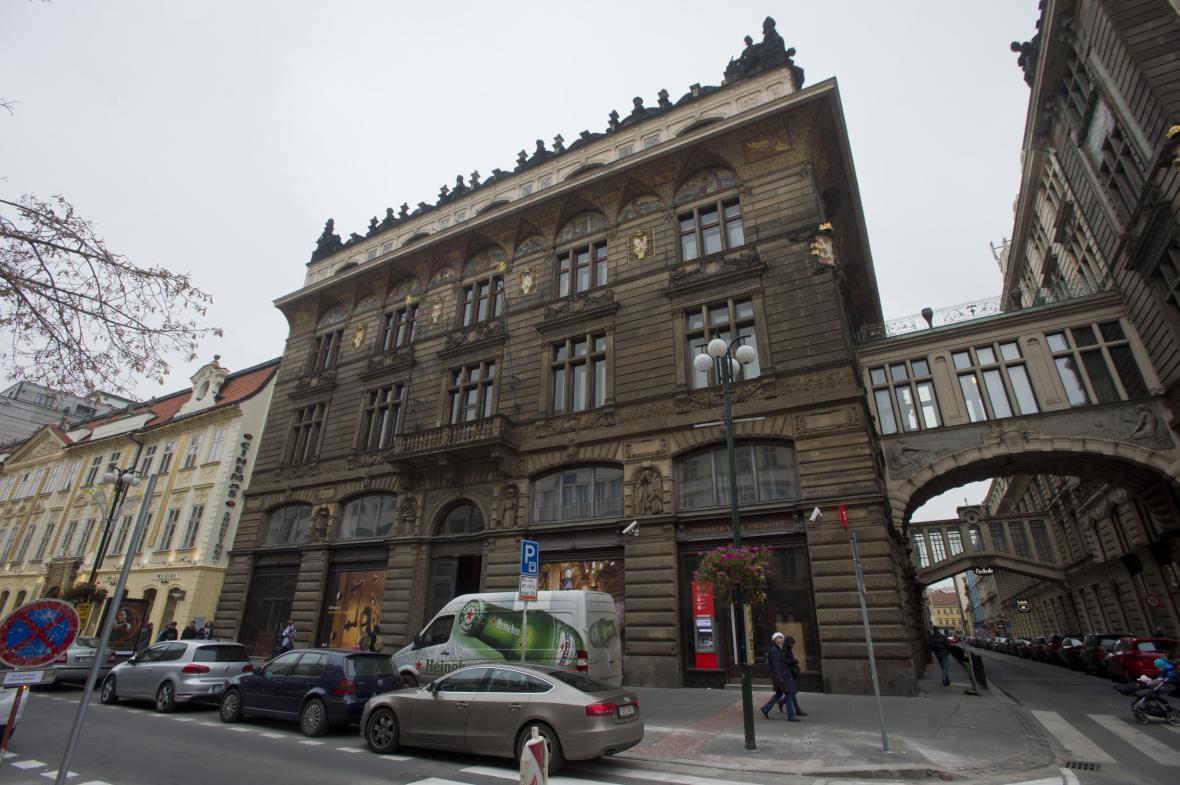 Budova bývalé Živnobanky v centru Prahy