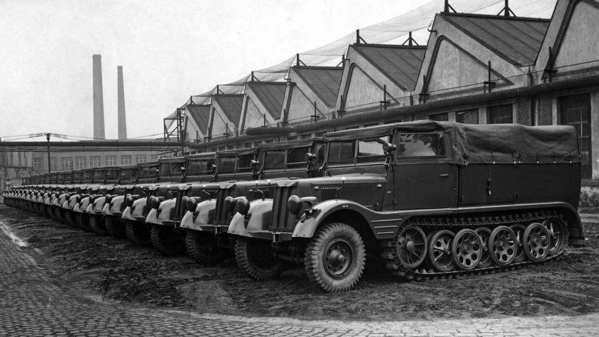 Škodovy závody v Plzni platily za jednu z největších zbrojních továren Třetí říše