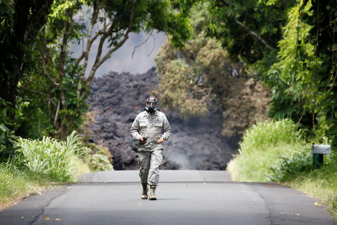 Hornina ze sopky Kilauea