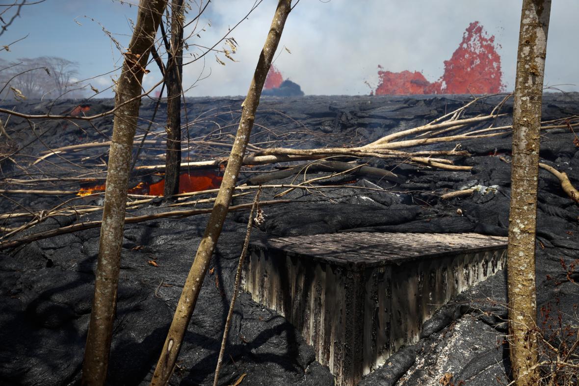 Zničená příroda na Havaji