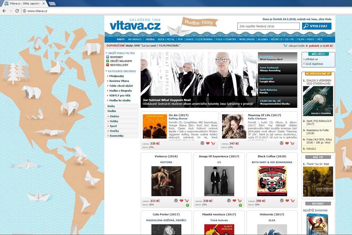 Prodáno. Jeden z nejstarších e-shopů českého internetu Vltava.cz mění  vlastníka — ČT24 — Česká televize e0b449899e