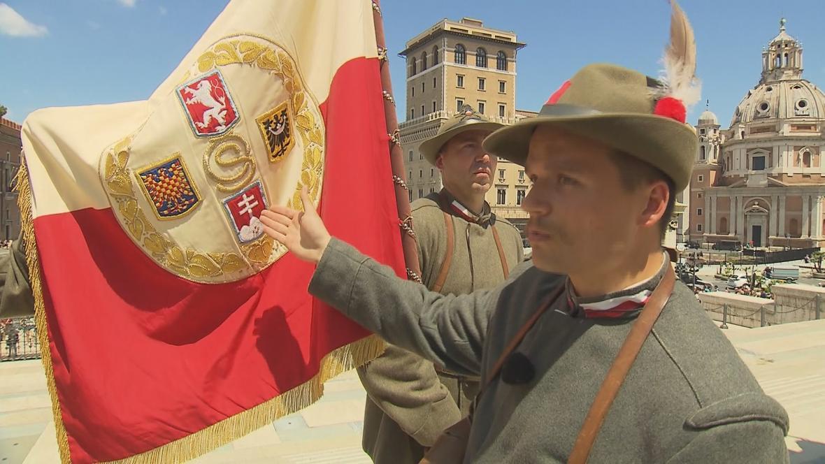Prapor československých legií v Římě