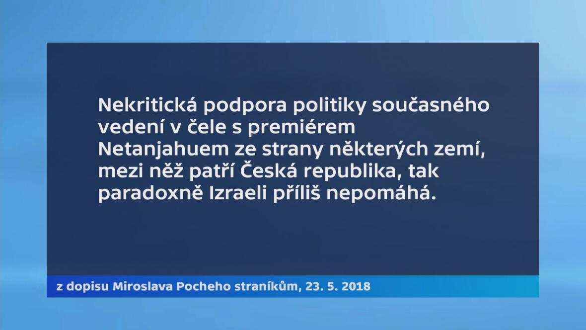 Miroslav Poche v dopise spolutraníkům