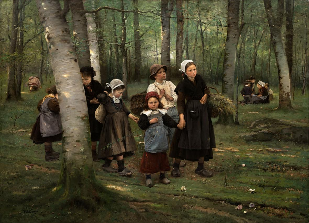 Václav Brožík: Děti v lese
