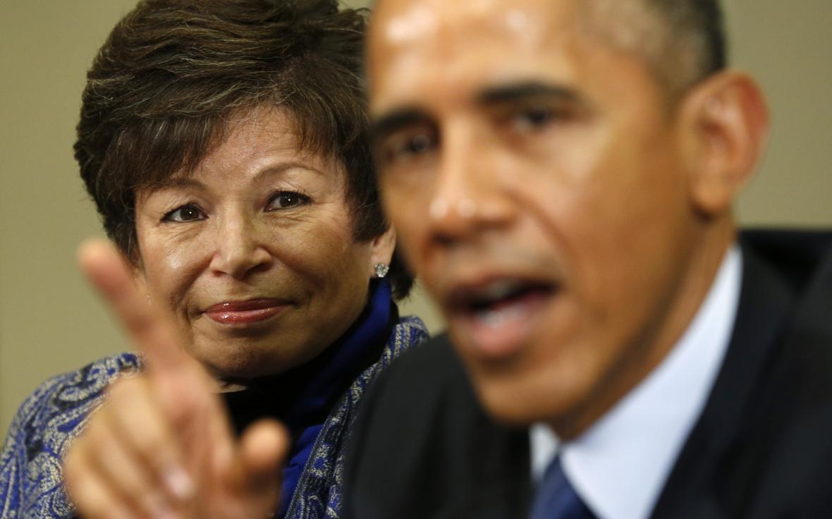 Valerie Jarrettová a Barack Obama