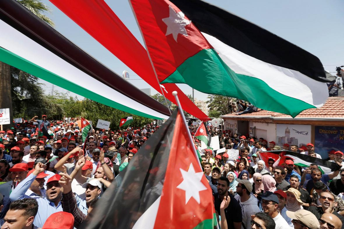 Jordánský protest proti úsporám