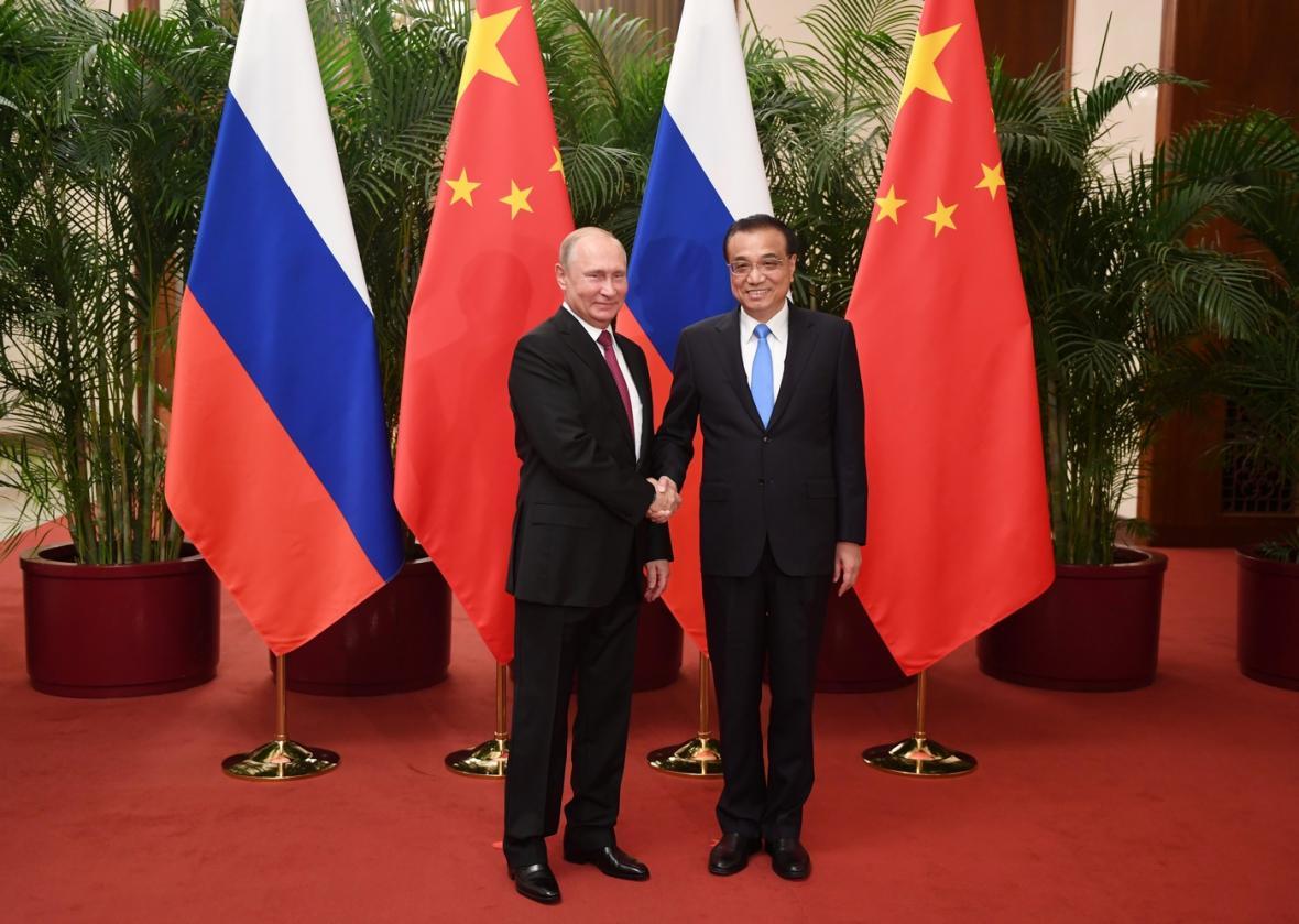 Putin jednal i s čínským premiérem Li Kche-čchiangem.