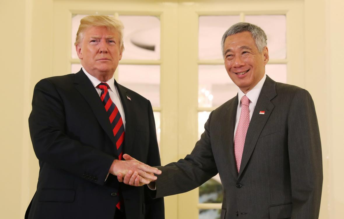 Donald Trump a Lee Hsien Loong