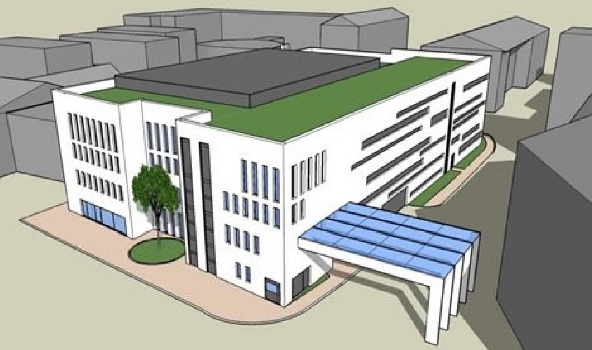 Vizualizace nového parkovacího domu