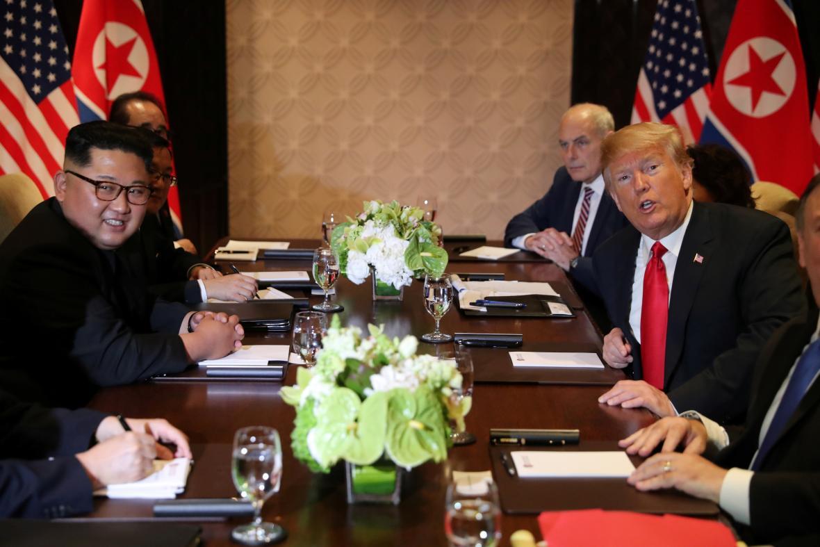 Schůzka Donalda Trump s Kimem