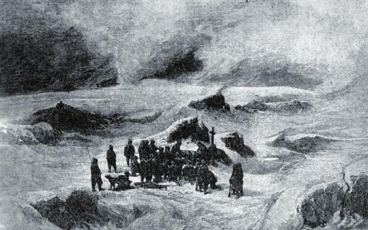 Julius Payer: Pohřeb Oty Kříže