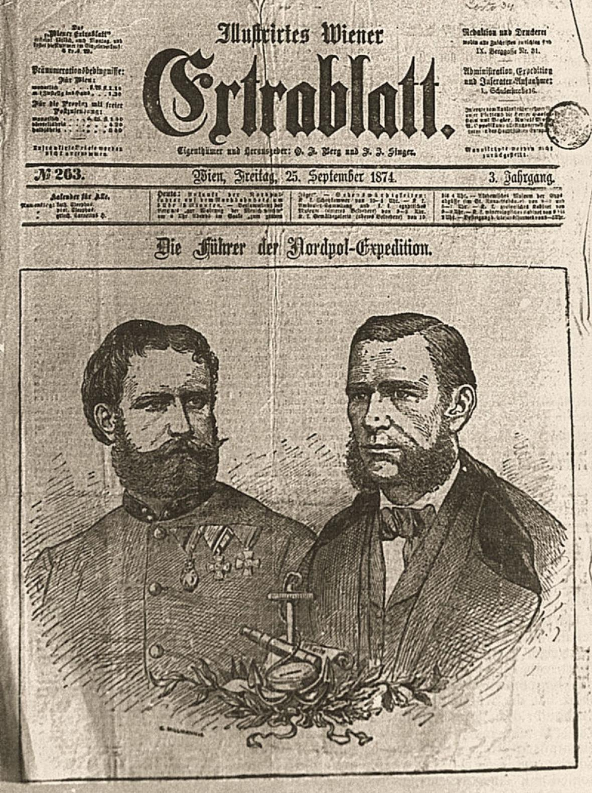 Informace o návratu expedice v novinách