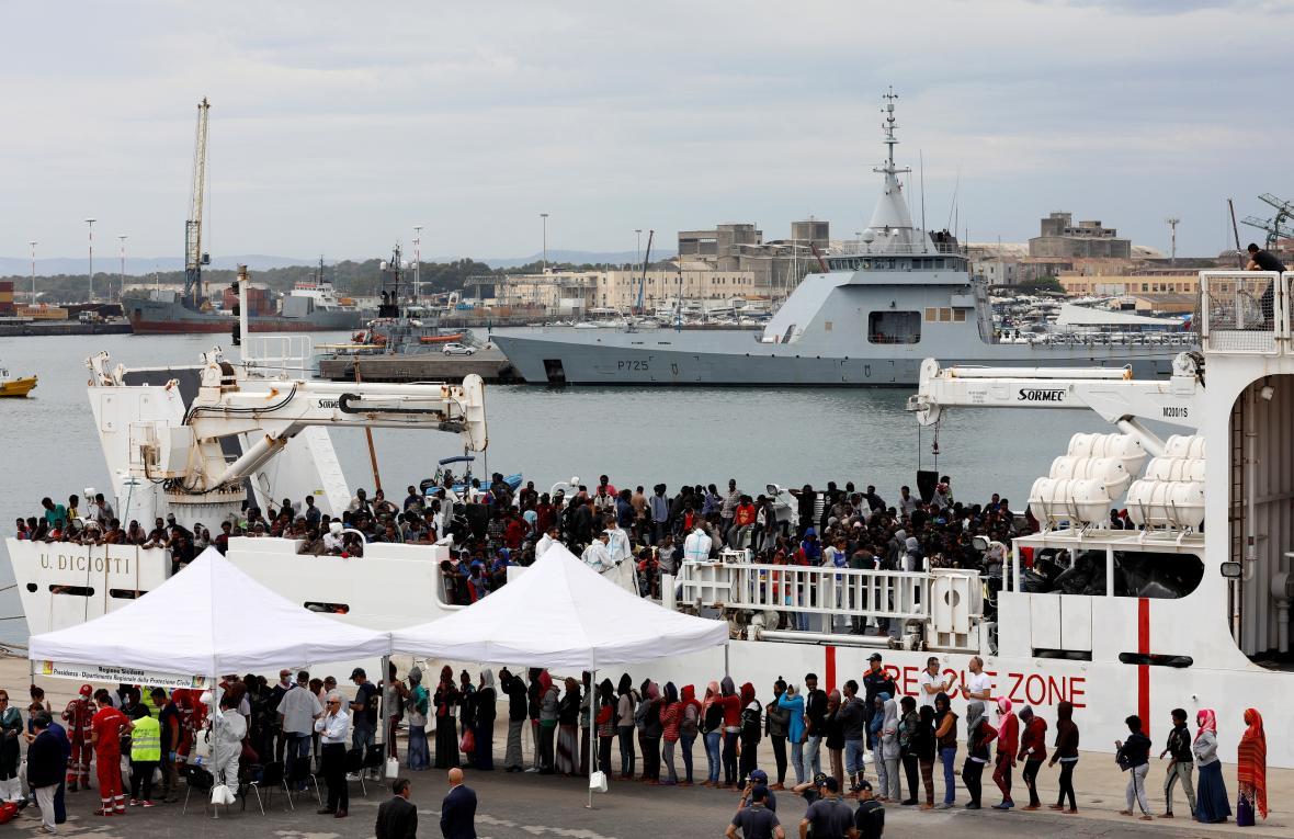 Příjem migrantů z lodi Diciotti