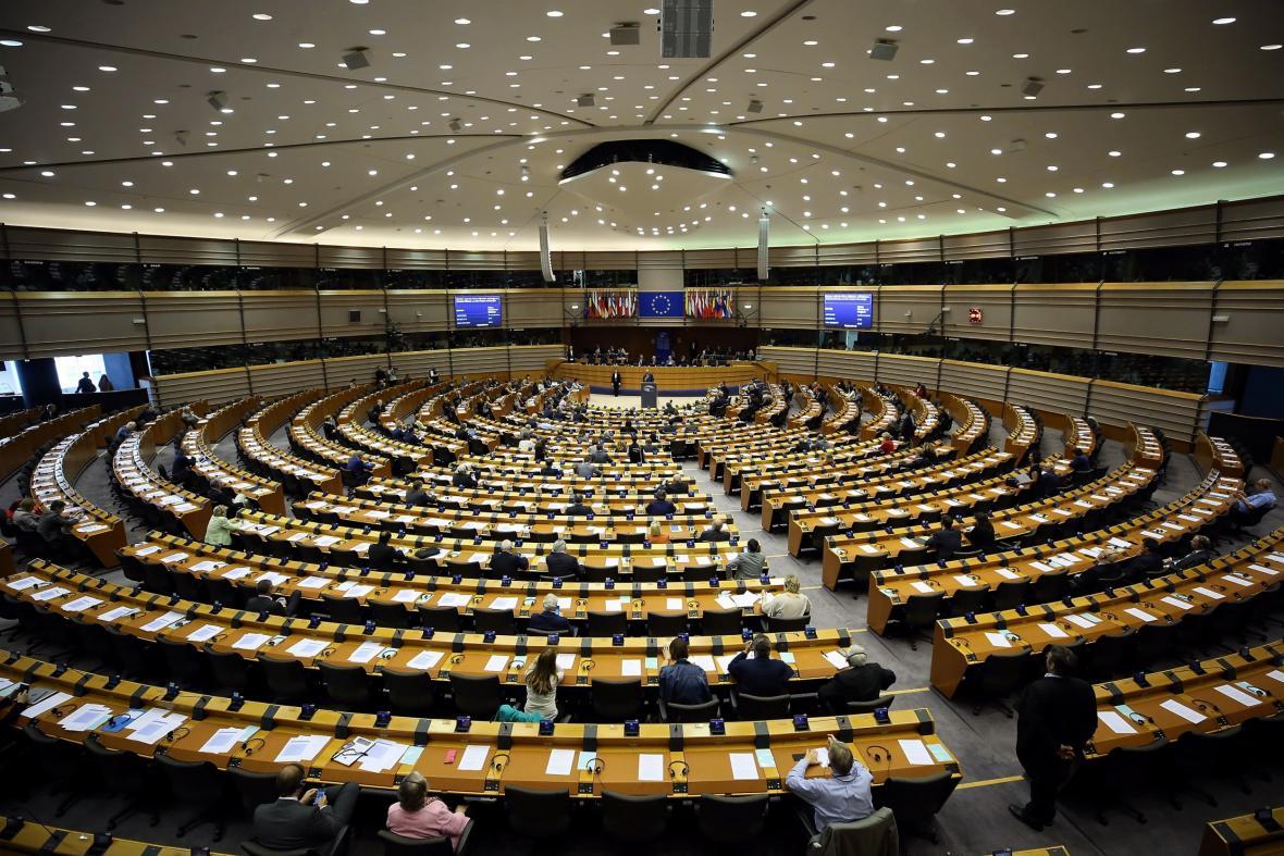 Plenární zasedání europarlamentu v Bruselu