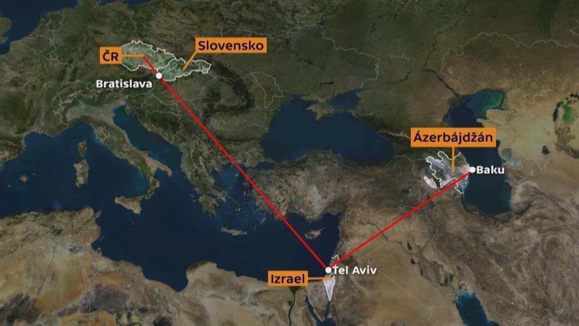 Cesta Strnadových zbraní do Ázerbajdžánu