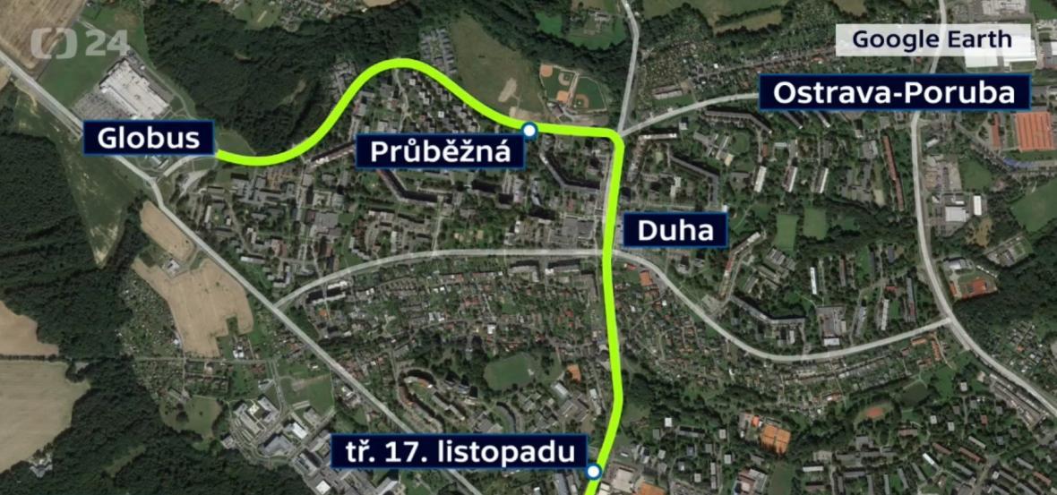 Návrh nové tramvajové linky