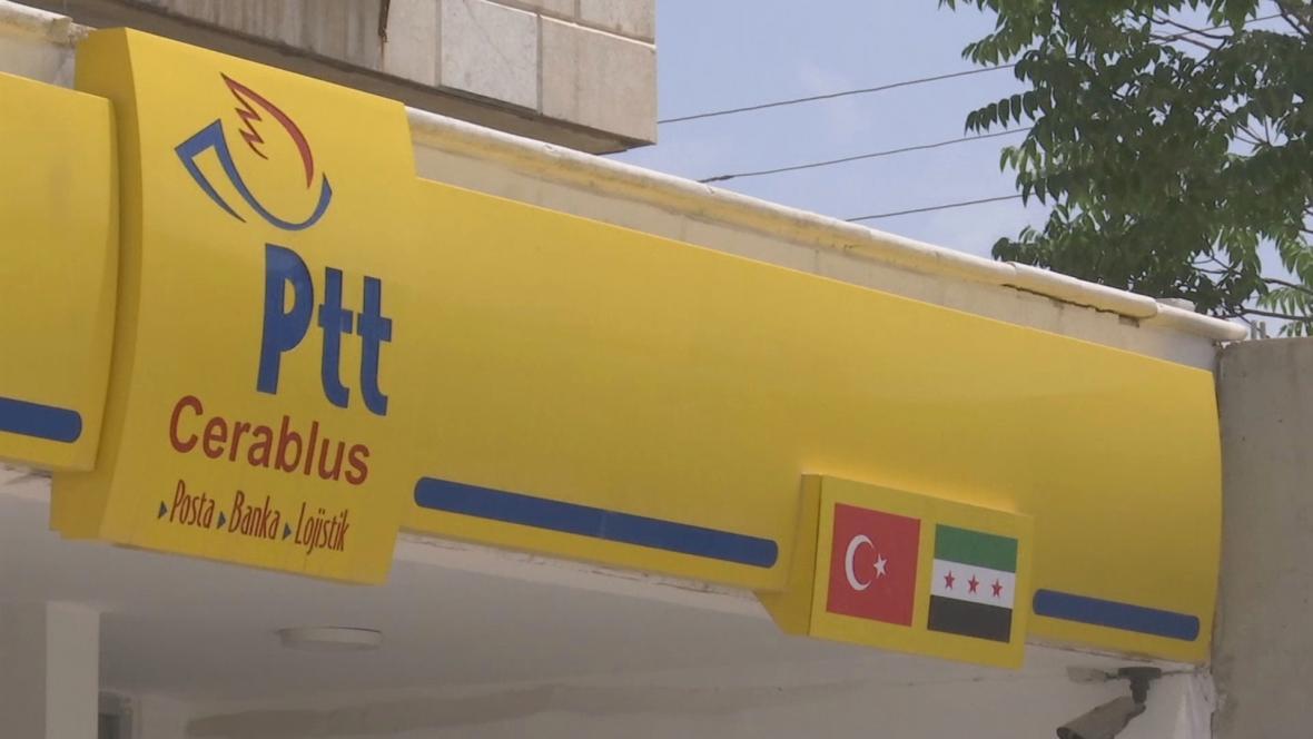 Turecká pošta na syrském území