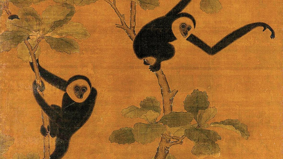 Giboni byli často na čínských středověkých obrazech