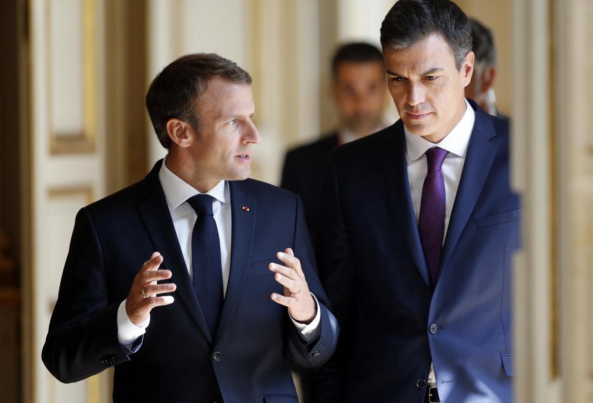 Macron a Sánchez jednali ještě před bruselským setkáním bilaterálně
