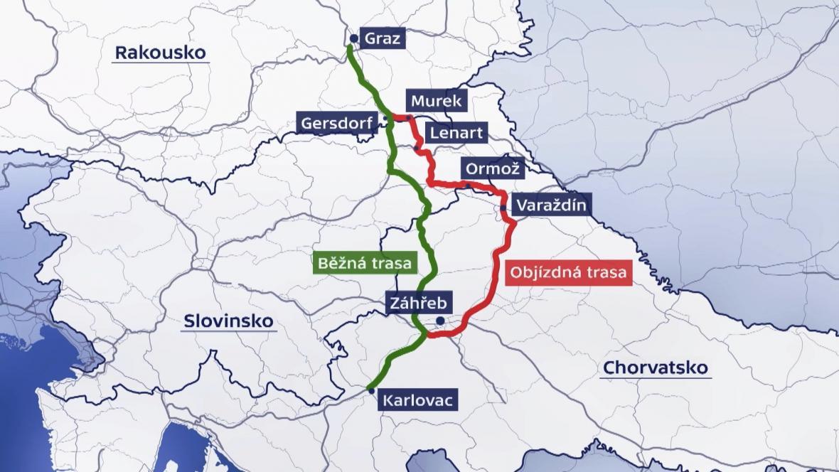 Obě testované trasy do Chorvatska