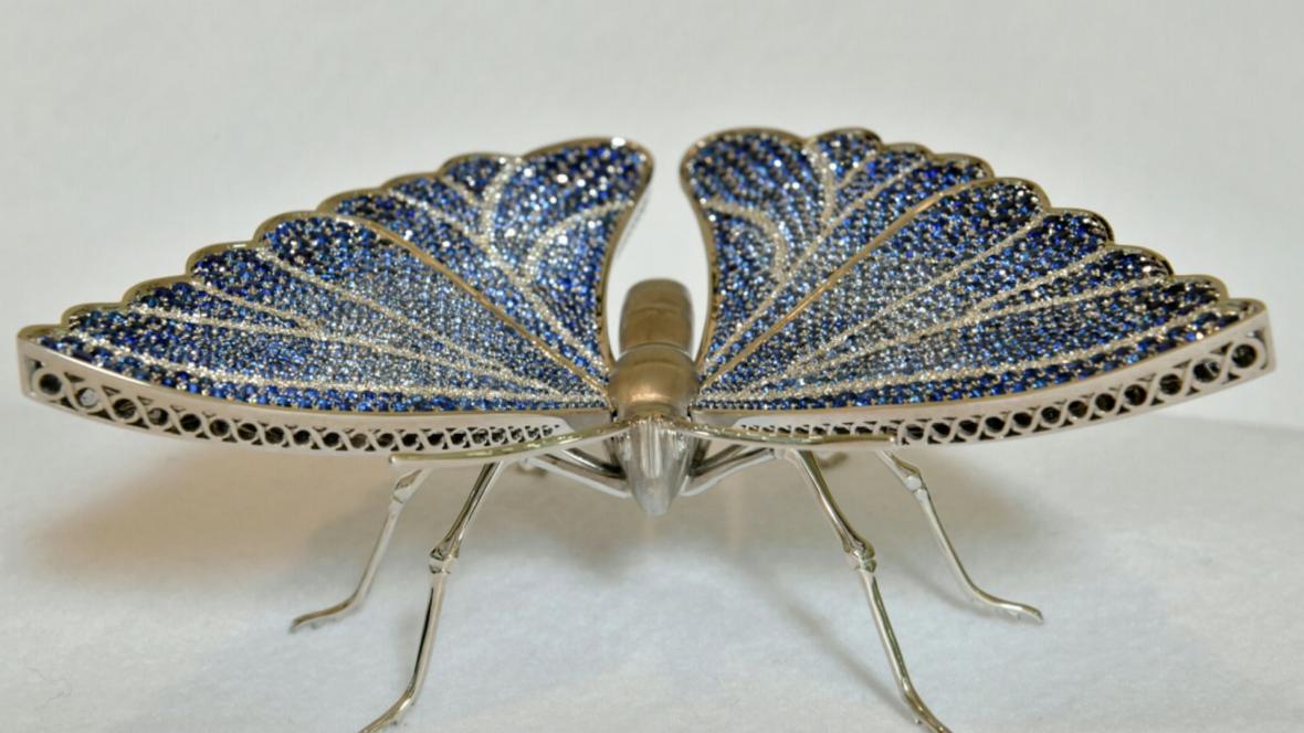 Raritní zakázka: Motýl z 18karátového zlata