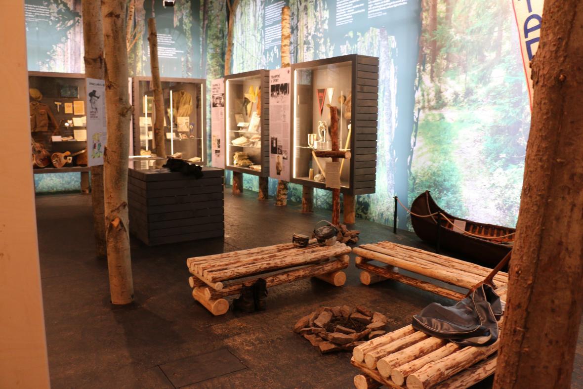 Z výstavy Století trampingu (Národní muzeum)