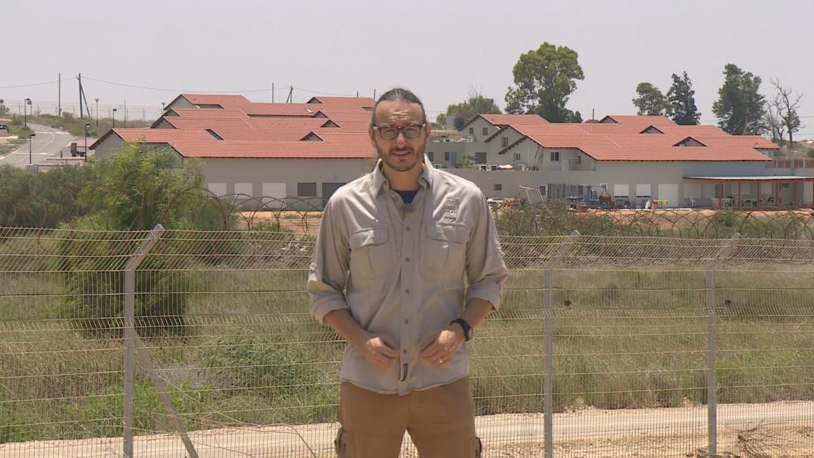 Jakub Szántó na hranicích Izraele a Gazy