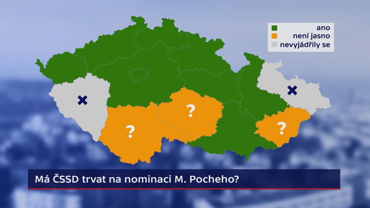 Postoj krajských organizací k nominaci Miroslava Pocheho