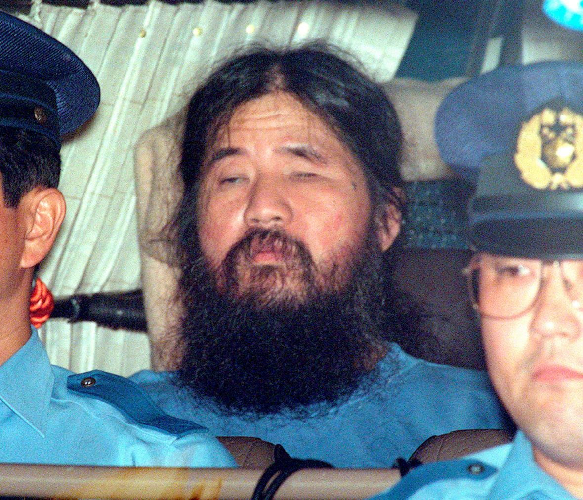 Šókó Asahara na smínku z roku 1995